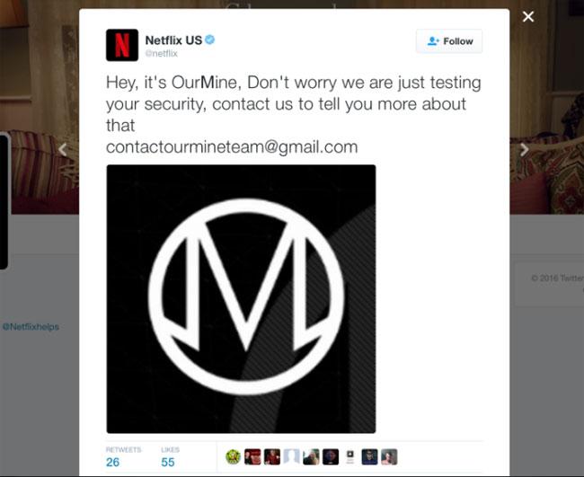 OurMine hacks Netflix, Marvel Twitter accounts