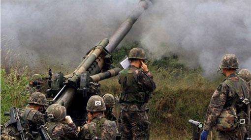 South Korea shells North after rocket attack