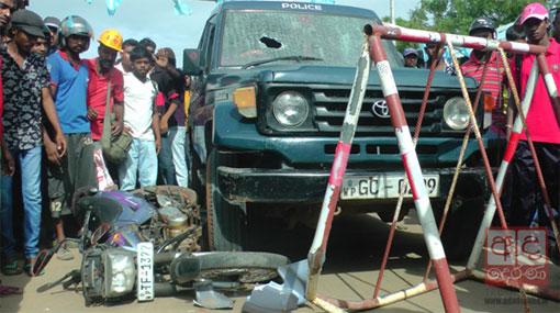 Tense situation during protest near Hambantota Port