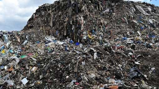 Karadiyana land fill receives 350 tons of waste