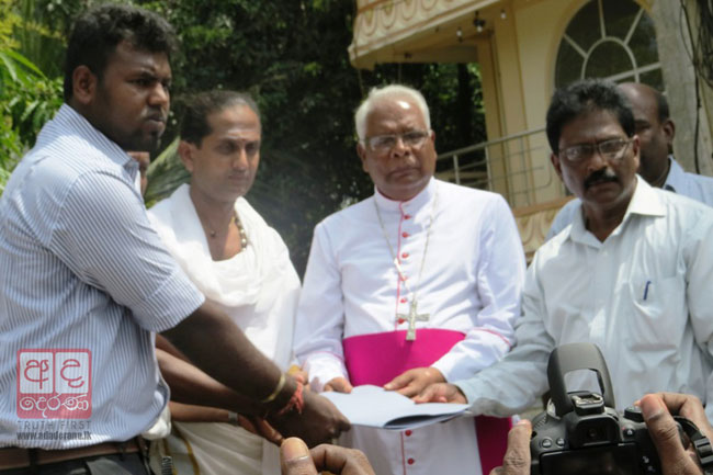 No faith in domestic probe - Bishop of Mannar