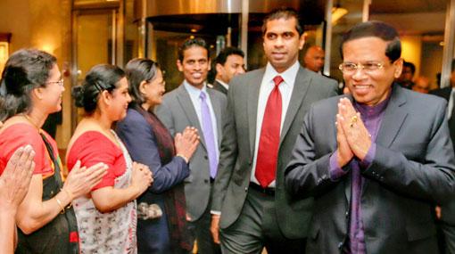 Maithri leaves for Maldives