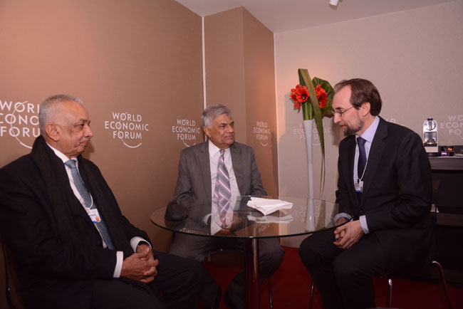 PM meets UN rights chief in Davos...
