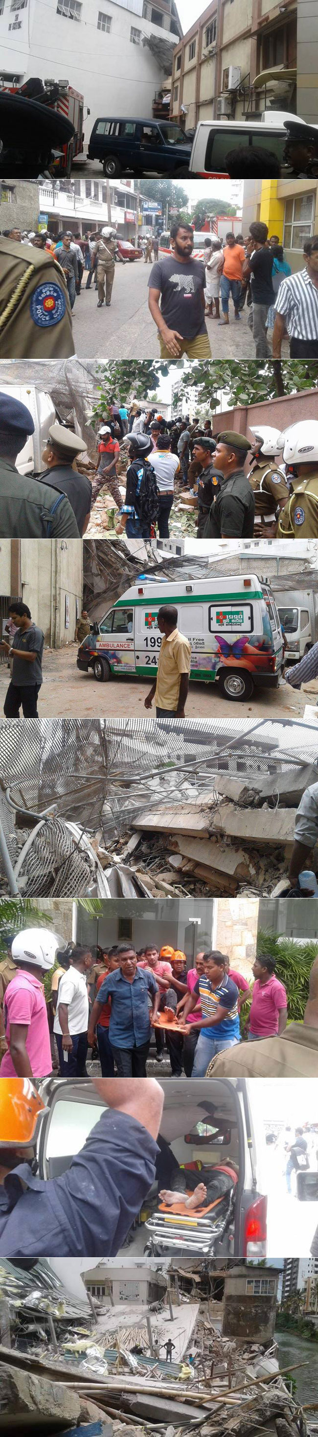 Building collapses in Wellawatta...