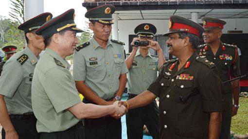 Chinese military delegation reviews Diyatalawa project