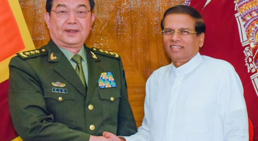 Chinese Defense Minister called on President