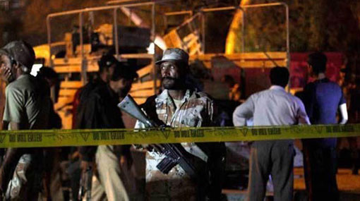 Two killed in suicide blast outside Gadaffi Stadium