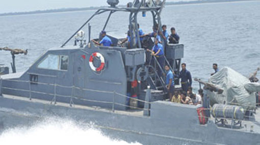 Navy arrests 17 Australia-bound illegal migrants and boat