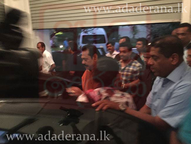 EXCLUSIVE: President Rajapaksa leaves Temple Trees