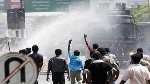 Over 120 arrested after tense situation at Jaffna protest