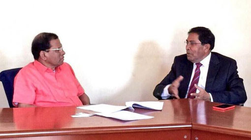Maldivian opposition delegation calls on President
