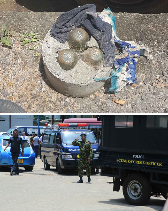 3 hand grenades found underneath vehicle parked at State institution