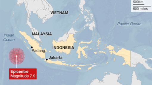 7.8 magnitude earthquake strikes off Indonesia