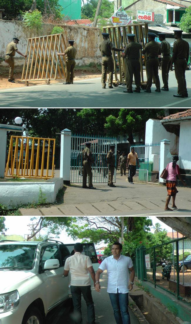 Namal visits Hambantota Police...