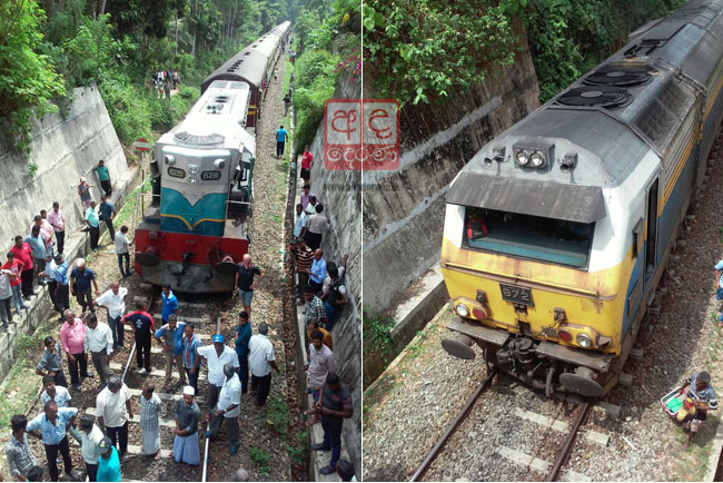 Major disaster averted as two trains almost collide head-on