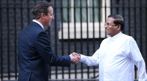 President Sirisena congratulates British Premier Cameron