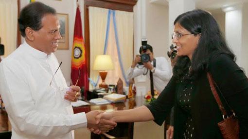 Biswal meets President Sirisena