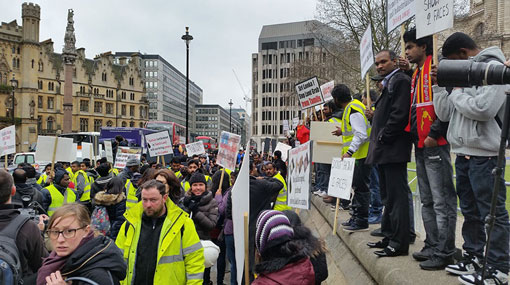 Protest against Maithripala in London