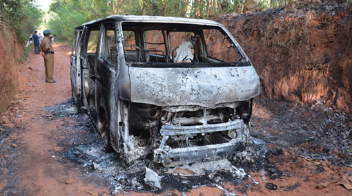 Five suspects arrested over Dankotuwa charred bodies