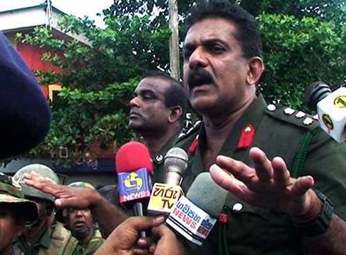 Brigadier who ordered Weliweriya shooting arrives amidst protest