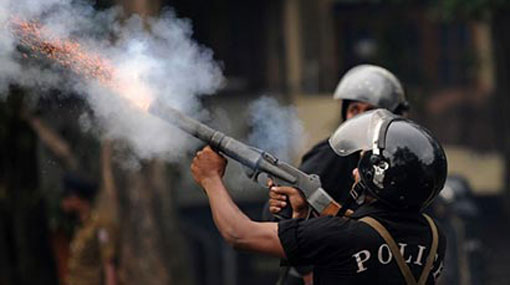 Police fire tear gas to disperse student protest
