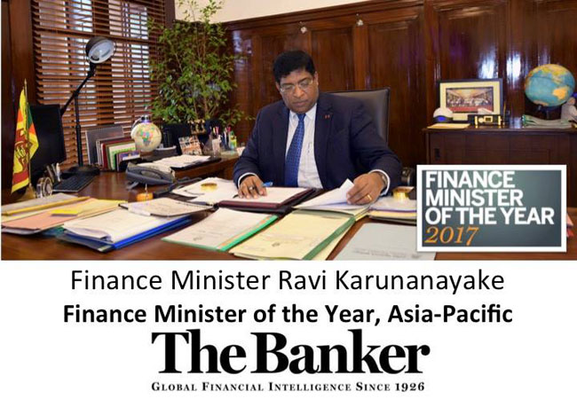 Ravi named Finance Minister of the Year, Asia-Pacific