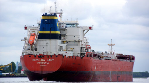 Oil tanker Neveska Lady enters Sri Lankan waters