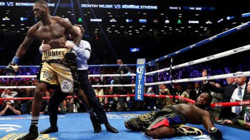 Deontay Wilder calls out Anthony Joshua after beating Bermane Stiverne with first-round knockout