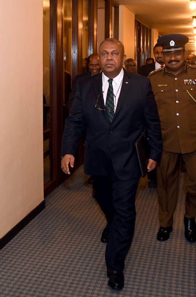 Mangala arrives for Budget Speech...