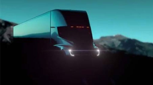 Tesla reveals 500-mile range electric semi-truck