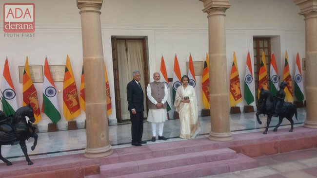 Modi meets visiting PM Ranil Wickremesinghe
