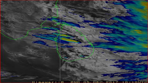 Low pressure area developing 800km away from Sri Lanka