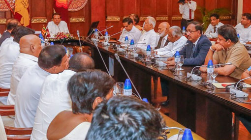 SLFP and UPFA top officials meet with President Sirisena
