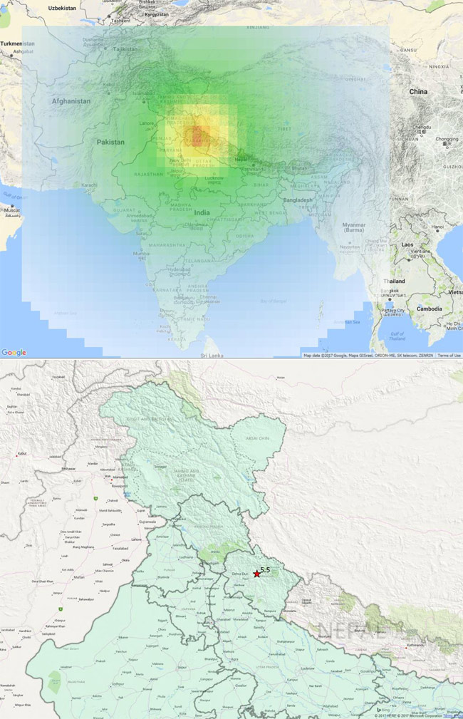 Earthquake in India's Uttarakhand, tremors felt in Delhi