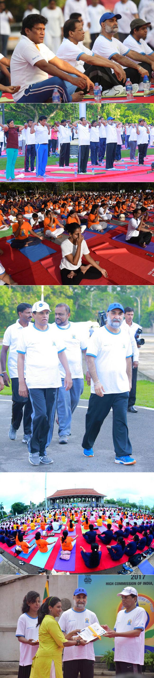 President joins Yoga Day celebrations...