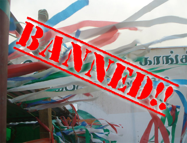 Polythene ban during election campaign activities