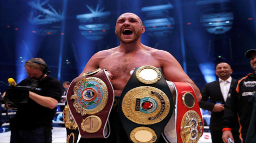 Tyson Fury challenges Anthony Joshua for comeback