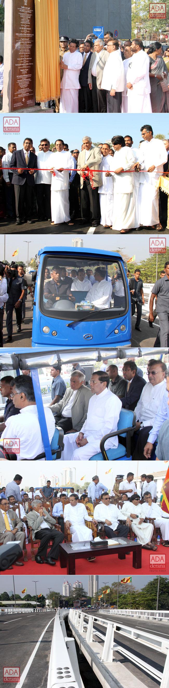 Rajagiriya flyover declared open...