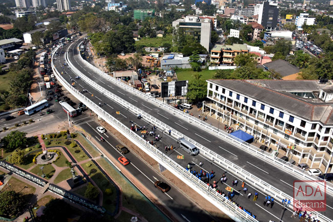 Rajagiriya flyover declared open by President and PM