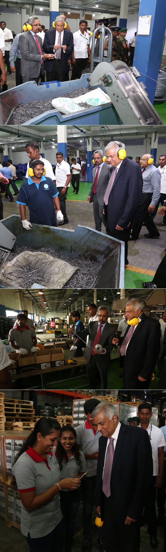 PM visits steel factory in Katunayake...