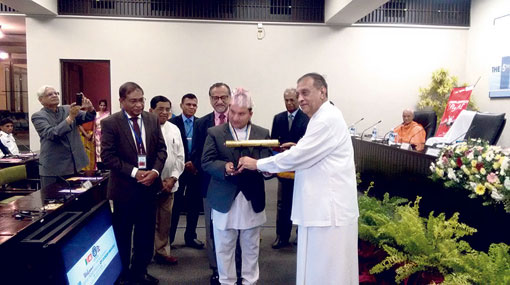 Laxmi Sundar Gai felicitated by Lankan Parliamentarians