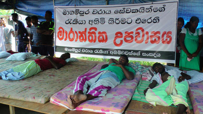 Hambantota port workers call off fast unto death