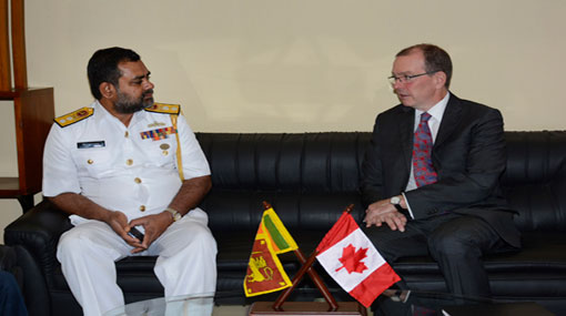 Canadian High Commissioner calls on Commander Eastern Naval Command
