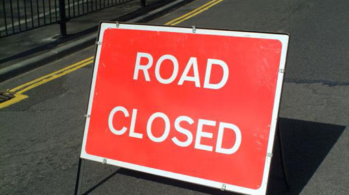 Lotus Road closed due to protest