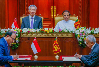 Sri Lanka, Singapore ink FTA...