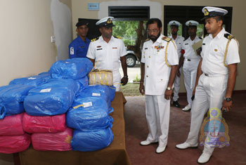 Northern Naval Command  seize 110 kgs of Kerala cannabis