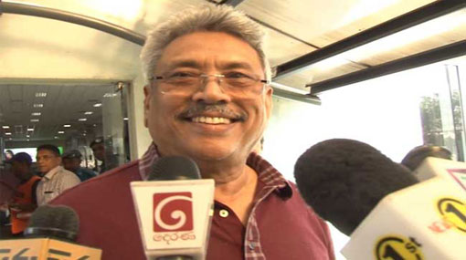 Gota arrives in the country