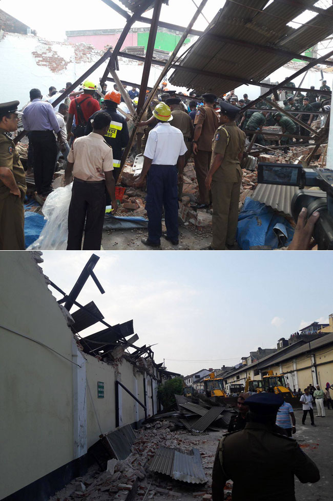 Building collapses in Grandpass