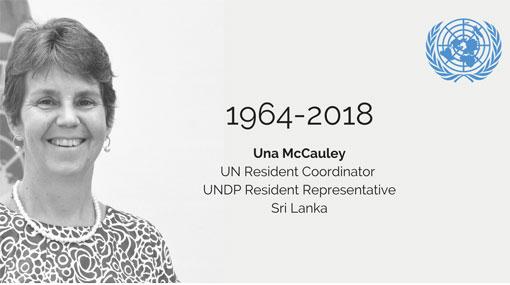 United Nations Resident Coordinator Una McCauley passes away