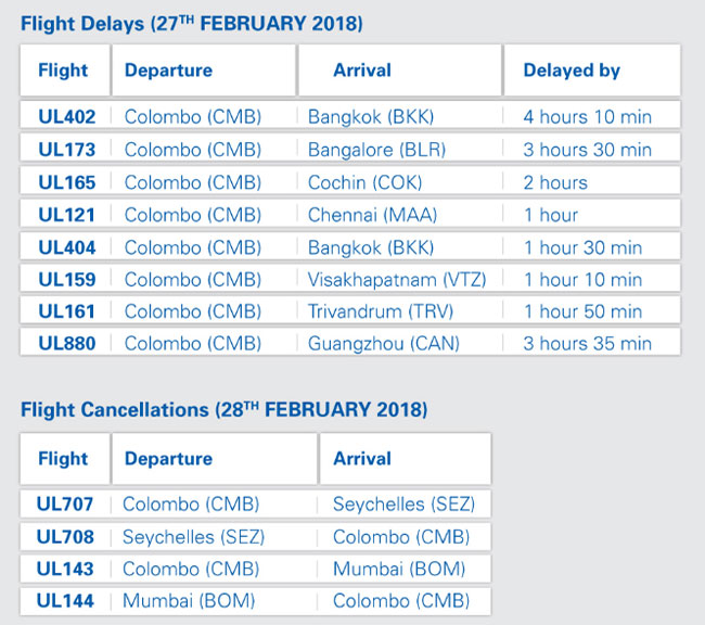 Srilankan airlines flights cancelled and delayed - Srilankan airlines bangalore office number ...